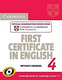 "<font title=""  Cambridge First Certificate in English 4 (Paperback) "">  Cambridge First Certificate in English...</font>"