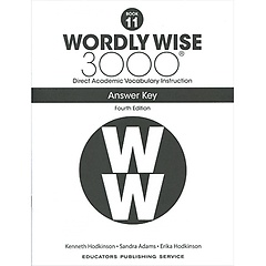 """<font title=""""Wordly Wise 3000 :  Book 11 Answer Key (Paperback/4th Ed.)"""">Wordly Wise 3000 :  Book 11 Answer Key (...</font>"""