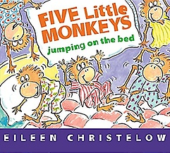 """<font title=""""Five Little Monkeys Jumping on the Bed (Board Book) (Board Books)"""">Five Little Monkeys Jumping on the Bed (...</font>"""