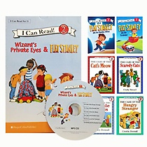 [I Can Read Book] Level 2. Wizard Private Eyes 4�� + Flat Stanley 2�� ��Ʈ (å6��+CD1��)