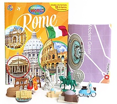 """<font title=""""로마 Rome - Around the World My Busy Book (Board Book+피규어 세트)"""">로마 Rome - Around the World My Busy Boo...</font>"""