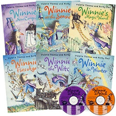 "<font title=""Winnie the Witch 리더스북 1집 (Paperback:6+CD:2)"">Winnie the Witch 리더스북 1집 (Paperback...</font>"