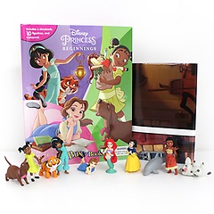 "<font title=""Disney Princess Beginnings My Busy Books 디즈니 프린세스 비기닝 비지북 (미니피규어 10개 + 놀이판) "">Disney Princess Beginnings My Busy Books...</font>"