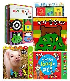 애플비 초점책 4종 + 목욕책 3종 + 헝겊책 + 사운드북 2종 패키지 세트