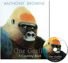 """<font title=""""[노부영]앤서니 브라운 One Gorilla: A Counting Book (Paperback+ CD)"""">[노부영]앤서니 브라운 One Gorilla: A Cou...</font>"""