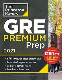 """<font title=""""Princeton Review GRE Premium Prep, 2021: 6 Practice Tests + Review & Techniques + Online Tools (Paperback)"""">Princeton Review GRE Premium Prep, 2021:...</font>"""