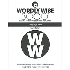 """<font title=""""Wordly Wise 3000 :  Book 12 Answer Key (Paperback/4th Ed.)"""">Wordly Wise 3000 :  Book 12 Answer Key (...</font>"""