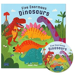 "<font title=""노부영 마더구스 Five Enormous Dinosaurs (Paperback + CD)"">노부영 마더구스 Five Enormous Dinosaurs ...</font>"