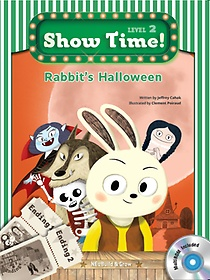 """<font title=""""Show Time Level 2-10 : Rabbit`s Halloween SET (Story Book + MultiRom + Work Book)"""">Show Time Level 2-10 : Rabbit`s Hallowee...</font>"""