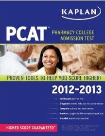 Kaplan PCAT 2012-2013 (Paperback)