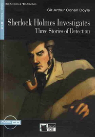 """<font title=""""Sherlock Holmes Investigates : Three Stories of Detection - Reading and Training (Paperback+CD)"""">Sherlock Holmes Investigates : Three Sto...</font>"""