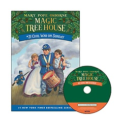 Magic Tree House #21 : Civil War on Sunday (Paperback+ CD)