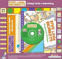 "<font title=""Five Little Monkeys Jump into Learning Boxed Set (Hardcover / Board Book)"">Five Little Monkeys Jump into Learning B...</font>"