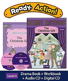 """<font title=""""Ready Action 4: The Christmas Gift(SB+WB)(with CDs)"""">Ready Action 4: The Christmas Gift(SB+WB...</font>"""