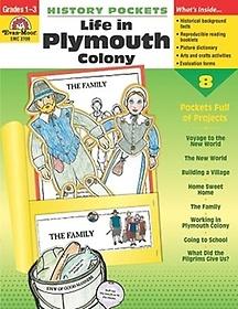 EM 3700 History Pockets- Life in Plymouth Colony Grade 1-3