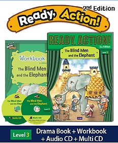 """<font title=""""Ready Action. 3: The Blind Men and the Elephant(SB with CDs + WB)"""">Ready Action. 3: The Blind Men and the E...</font>"""