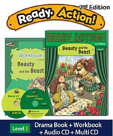 """<font title=""""Ready Action. 3: Beauty and the Beast(SB with CDs + WB)"""">Ready Action. 3: Beauty and the Beast(SB...</font>"""