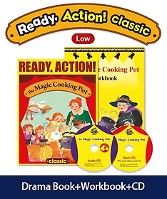 """<font title=""""Ready Action Classic. 1:The Magic Cooking Pot(SB with CDs+WB)"""">Ready Action Classic. 1:The Magic Cookin...</font>"""