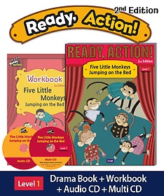 """<font title=""""Ready Action Level. 1: Five Little Monkeys Jumping on the Bed(SB with CDs+WB)"""">Ready Action Level. 1: Five Little Monke...</font>"""