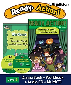"""<font title=""""Ready Action Level. 3: The Pumpkin Ghost on Halloween Night(SB with CDs+WB)"""">Ready Action Level. 3: The Pumpkin Ghost...</font>"""